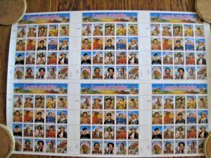 FULL PRINTER'S SHEET - U.S. LEGENDS OF THE WEST - SCOTT #2869v - MNH