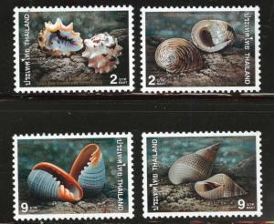 THAILAND Scott 1771-74 MNH** 1997 joint Singapore shell set