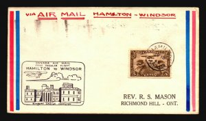 Canada 1929 FFC - Hamilton to Windsor - Z16720