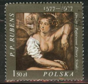 Poland Scott 2210 Used 1977  favor canceled PP Rubens ART