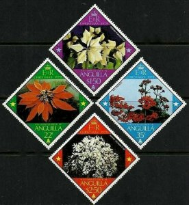 ANGUILLA - 1979 - CHRISTMAS - FLOWERS - POINSETTIA - KALANCHOE + MINT MNH SET!