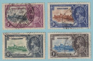 GOLD COAST 108 - 111 USED - SILVER JUBILEE - CAT VALUE $78 - VERY FINE! - X637