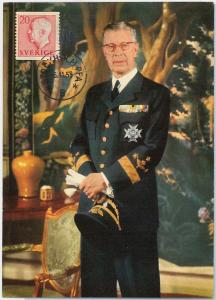 57452 - SWEDEN - POSTAL HISTORY: MAXIMUM CARD 1958  -  ROYALTY