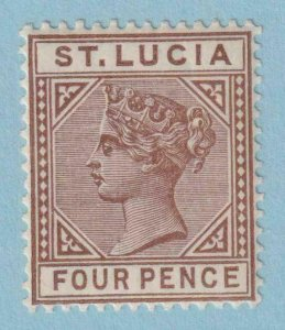 ST LUCIA 33  MINT NEVER LIGHTLY HINGED OG ** NO FAULTS  VERY FINE!