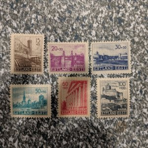 Estonia NB1-6 VFMH complete set, CV $5