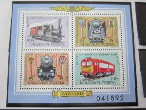 Hungary 1979 Sc 2608 Train set MNH