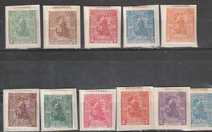 #110-120 Nicaragua Mint OG on paper