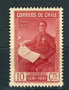 CHILE; 1941 Santiago Anniversary issue fine Mint hinged 10c. value