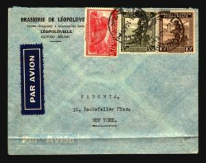 Belgian Congo 1946 Commercial Cover to USA / Bottom Fold - Z14345