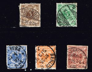 GERMANY STAMP COLONIES1889 -1900 Definitives - Value Stamp & Imperial Eagle LOT