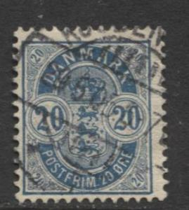 Denmark - Scott 48a - Definitive Issue -1902 - Used - Single 20s Stamp