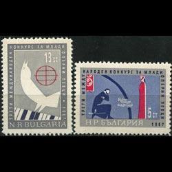 BULGARIA 1967 - Scott# 1594-5 Opera Singers Set of 2 NH