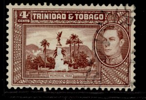 TRINIDAD & TOBAGO GVI SG249, 4c chocolate, FINE USED.