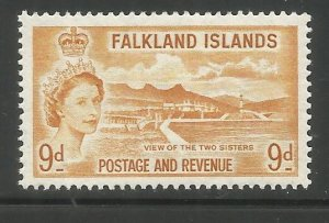 FALKLAND ISLANDS  126  HINGED,  CORONATION ISSUE