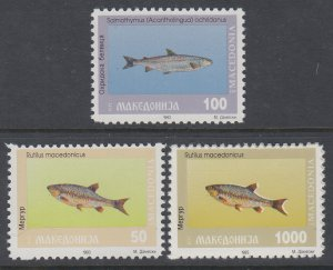 Macedonia 8-11 Fish MNH VF