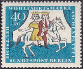 Germany - Berlin # 9NB36 mnh ~ 40pf + 20pf Cinderella and King on Horse