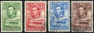 Bechuanaland SC# 124-7 KGVI Cattle & Tree 124 is MH 125-7 are used