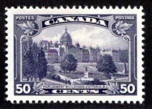 Scott 226 - 50c dull violet, XF/SUPERB-92, MLHOG, Parliament Buildings BC, Canad