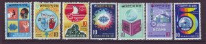 J24499 JLstamps south korea mnh/2 mlh #802,804-5,806,808,814,837