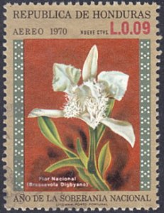 Honduras # C510 used ~ 9¢ Orchid, National Flower