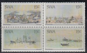 South West Africa, Sc # 380-383 (7), MNH, 1985, Paintings by Schroder