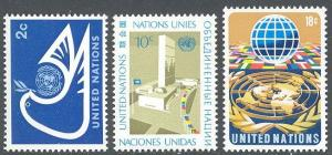 United Nations/New York 249-251 MNH - Definitives
