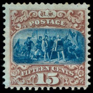 momen: US Stamps #118a Mint OG F/VF PF Cert RARE