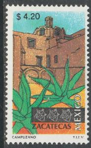MEXICO 2128, $4.20 Tourism Zacatecas, colonial convent. Mint Never Hinged F-VF.