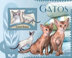 Guinea-Bissau MNH S/S Cute Cats Fauna 2012