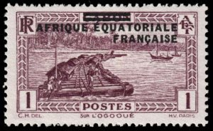 French Equatorial Africa - Scott 1 - Mint-Hinged