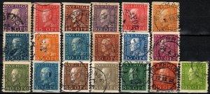 Sweden #167-72, 175, 177-88 F-VF Used CV $16.05 (X3170)
