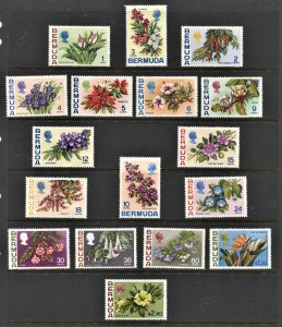 STAMP STATION PERTH Bermuda #255-271 Flowers Definitive Set MH/Used CV$53.00