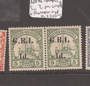 New Britain SG 2 pair wide overprint+narrow overprint MOG (5axd)