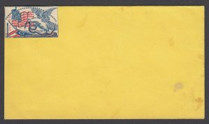 Civil War Patriotic unused Affixed Label on cover - Eagle, Snake and Flag