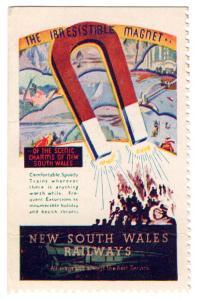 (I.B) Australia - NSW Government Railways : Promotional Label (Magnet)