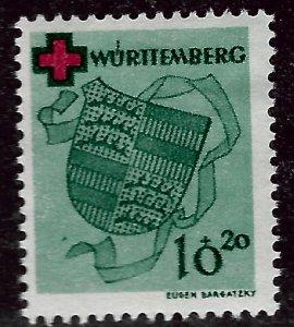 Wurttemberg French Zone SC 8NB1  Mint F-VF....Specialty Bargain!!
