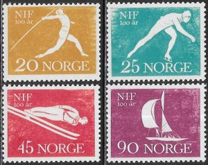 Norway 389-392 MNH -  100 Years Norwegian Sport Association