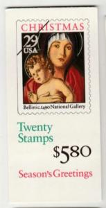 U.S. Scott #2710a BK202A Christmas Stamp - Mint NH Booklet - Unopened