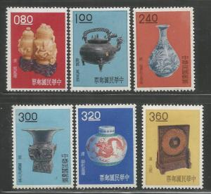 REPUBLIC OF CHINA  1302-1307  MINT HINGED, 1962 DESIGNS