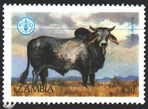 Zambia. 1987. 432 from the series. Cow, fauna. MVLH.