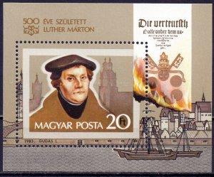 Hungary. 1983. bl165. Martin Luther. MNH.