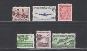 Cocos Islands 1963 Island Scenes Scott # 1 - 6 MH
