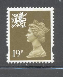 GB Wales SC WMMH58 1993 19p ol grn Machin Head stamp NH