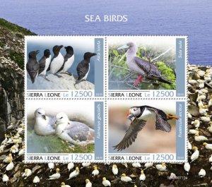 SIERRA LEONE - 2019 - Seabirds - Perf 4v Sheet - MNH