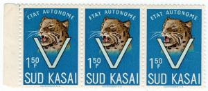 (I.B) Belgian Congo Postal : Sud Kasai 1.50Fr