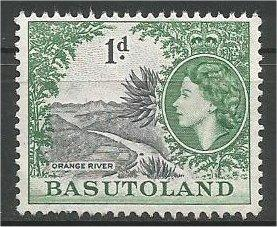 BASUTOLAND, 1954, MNH 1p, Orange River,  Scott 46