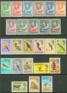 EDW1949SELL : BECHUANALAND 1938-1961 Sc #124-36, 180-93 Both Cplt sets Cat $152