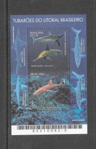 SHARKS - BRAZIL #3001  MNH