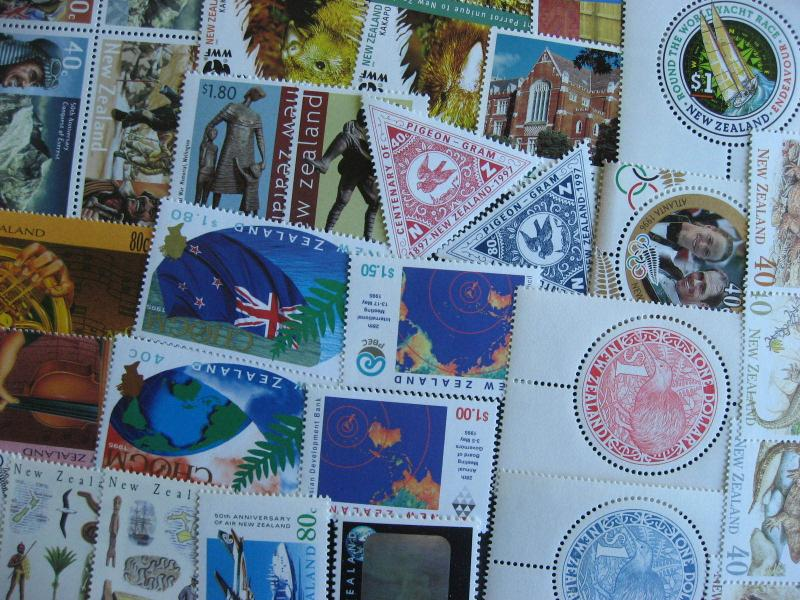 NEW ZEALAND 33 different MNH stamps 1990 to 2005 era, check them out!
