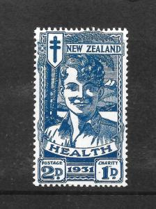 NEW ZEALAND  1931  2d   BLUE  BOY  HEALTH  MH  SG 547